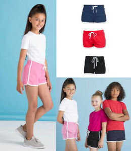 Childrens-Retro-Shorts-Boys-Girls-PE-School-Sports-Fitness-Gym-Running-Games