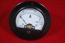 AC 0-30A Round Analog Ammeter Panel AMP Current Meter Dia. 90mm Direct Connect