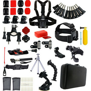 New Head Chest Suction Monopod Accessories Kit For GoPro 2 3 4 5 Session Camera