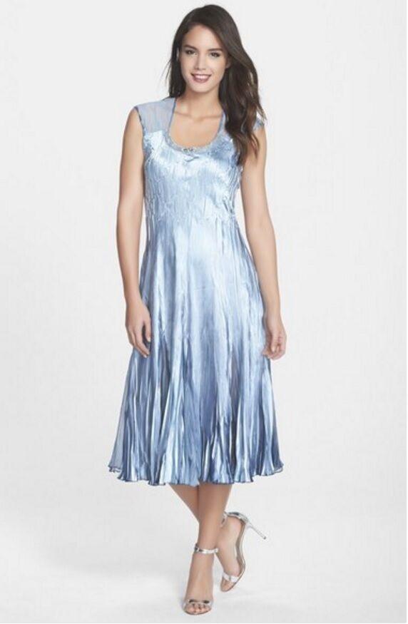 Komarov Charmeuse A-Line Dress (Size S)