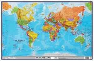 World Map Desktop Mat Pad 590mm X 400mm 5016873015725 Ebay