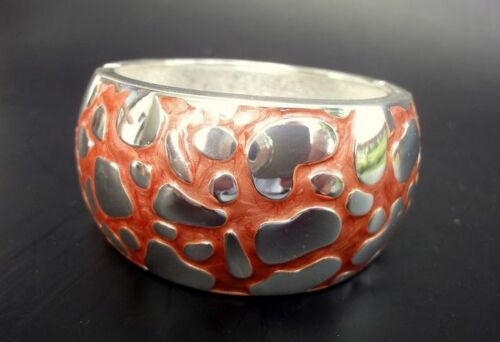 Sal y limon Syl brazalete pulsera marrón color plata mano pintado esmaltes nuevo!
