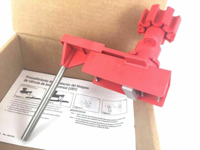 BRADY 65400 Y67614 Universal Ball Valve Lockout Device UBV Sold per each or x14