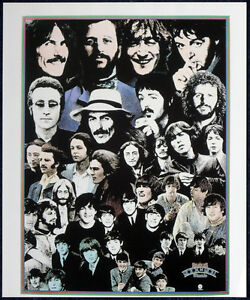THE BEATLES POSTER PAGE 1976 ROCK N ROLL MUSIC ALBUM REPRO