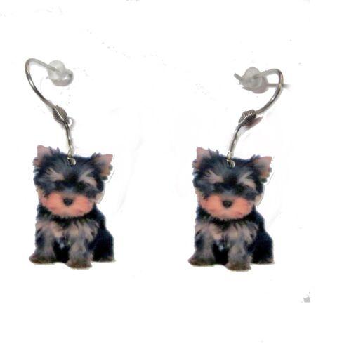 YORKSHIRE TERRIER Ohrringe earrings stainless steel hooks