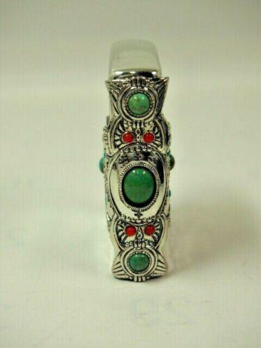 Zippo Oil Lighter Indian Spirit Eagle Natural Stone Cross Brass Silver Japan F//S