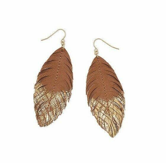 Premier Designs Light As A Feather Women's Earrings - Gold/Brown for sale  online   eBay
