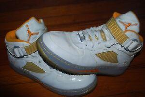 premium selection 04ceb 23bcc Details about Boy's Nike Air Jordan GS Retro 5's V Youth Sneakers (7Y)  White / Orange Peel