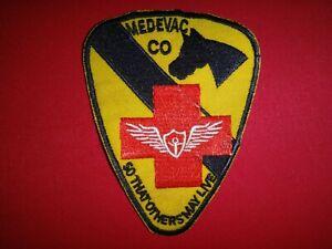 Guerra-Vietnam-Parche-Eeuu-1st-Caballeria-Division-Evacuacion-Medica-Co-so-Que