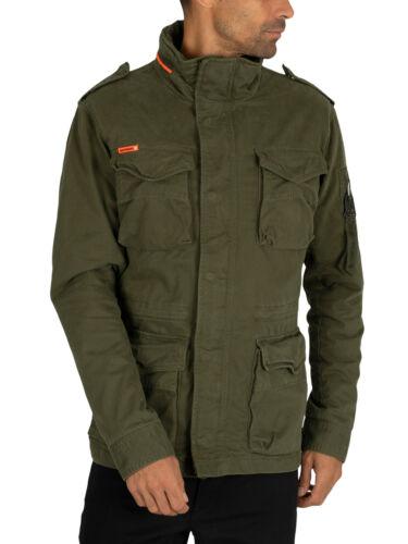 Superdry Men/'s Classic Rookie 4 Pocket Jacket Green