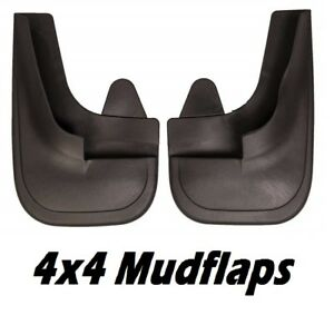 2-x-Universal-Fit-Black-Front-and-Rear-4x4-Van-Mudflaps-complete-with-fixings