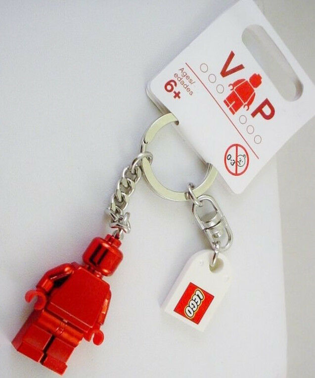 Nuovo LEGO Club Special Edition Metallic rosso VIP Minifigure Keychain Collectors