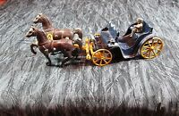 Vintage Antique Stanley Toys Cast Horse-drawn Carriage Buggy Wagon