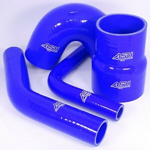 Blue Straight Reinforced Silicone Heater Coolant or Turbo Inlet Hose 1000mm piece ID 8mm