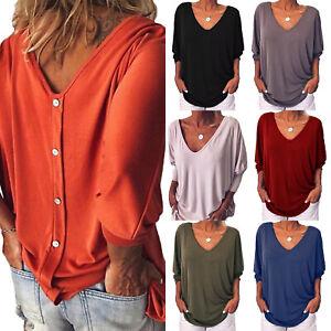 official photos 52d74 34f58 Details zu Damen Fledermausärmel Sommer Bluse T-Shirt Freizeit Tunika Top  Locker Oberteil