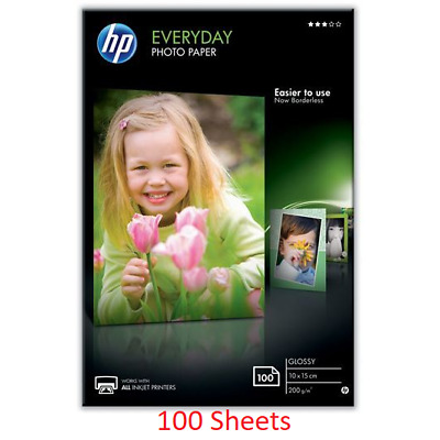 HP CR757A Everyday Glossy Photo Paper A6 10x15cm 200gsm White 100 Sheets