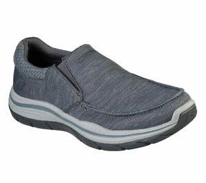 Gray Skechers Shoes Men's Extra Wide