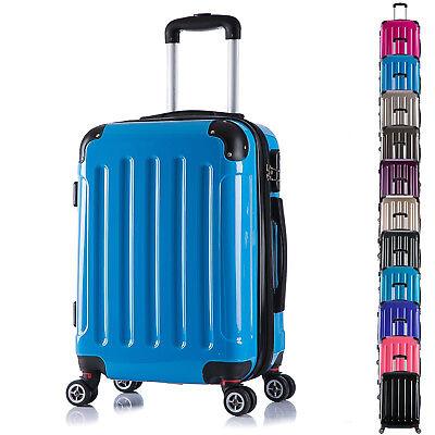Koffer Trolley Reisekoffer Hartschalenkoffer 4 Rollen Handgepäck M L XL Set #376