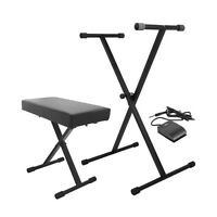 On-stage Kpk6520 Keyboard Stand/bench Pack With Sustain Pedal +picks