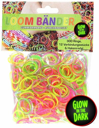 2400 Loombänder Glow in the Dark leuchtend Gummibänder Band Loom 2504 tlg. Business & Industrie Spielzeug