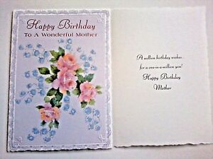 Details About 1 Birthday Greeting Card Envelope Mother Mom Love Happy Step Friend Flowers Wish