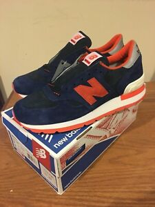 newest collection 51297 ca738 Details about New Balance J Crew 990 INF Navy Orange Size 9 Made In USA New