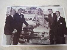 1967 ? PLYMOUTH  LINDA VAUGHN GEORGE HURST SOX & MARTIN  11 X 17  PHOTO  PICTURE