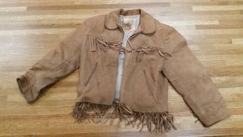 1950's Vintage Child's Roy Rogers Leather Jacket w