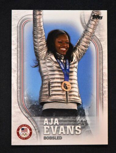2018 Topps US Winter Olympics Podium Image Variations #BPV-AE Aja Evans