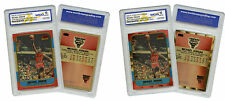 "NEVER BEFORE SEEN Genuine FLEER MICHAEL JORDAN ""1986"" ROOKIE PolyChrome Cards *2"