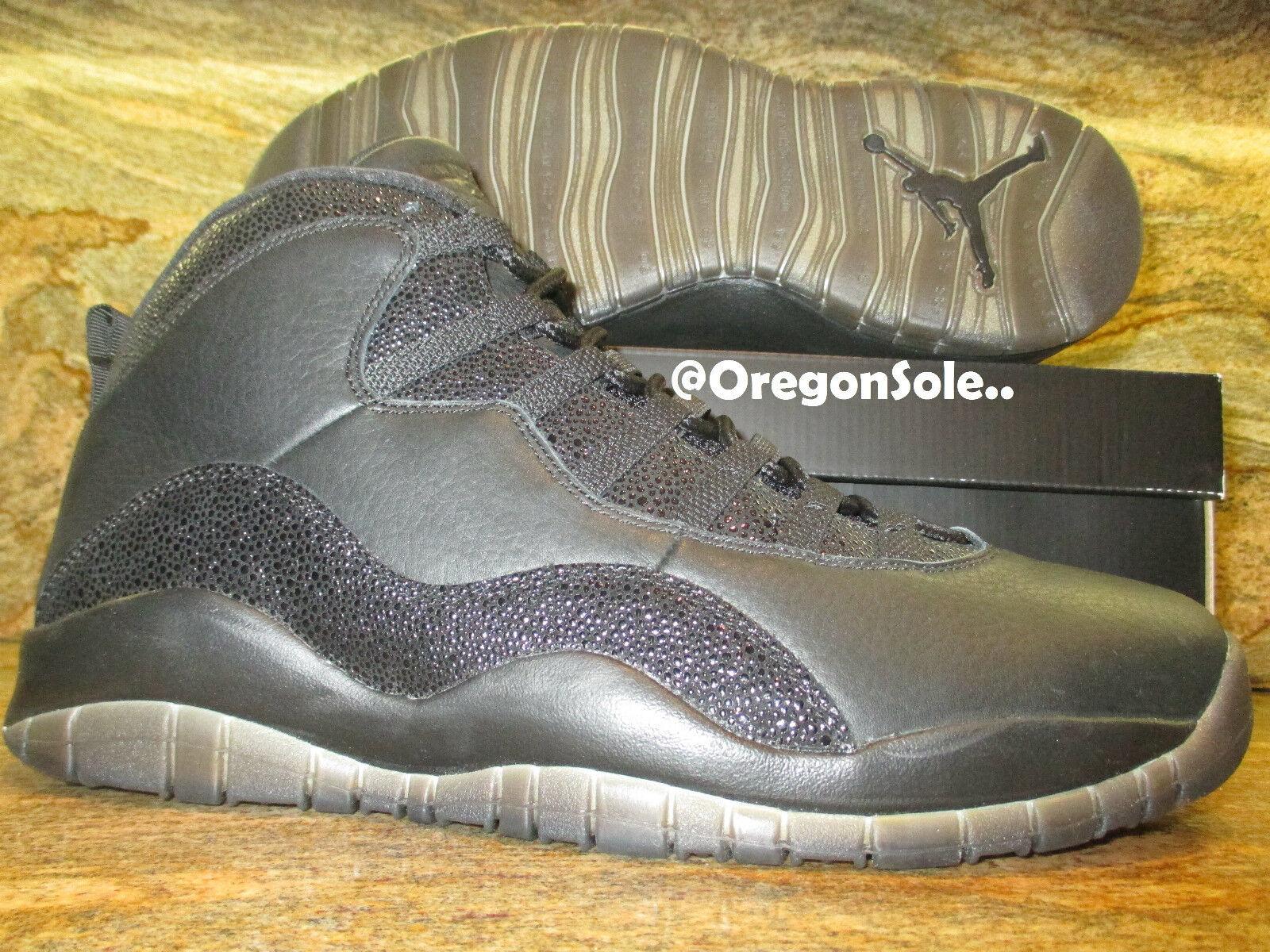 Nike Air Jordan 10 Sample X Retro OVO Promo Sample 10 SZ 13.5 Black Gold Drake PE HOF PSNY 583fdc