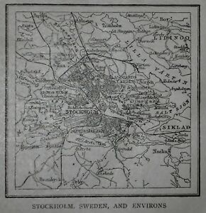 Lk antique 1914 small world atlas map of stockholm sweden and image is loading l k antique 1914 small world atlas map of gumiabroncs Images