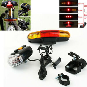 7 LED Bicycle Bike Turn Signal Directional Brake Light Lamp 8 sound Horn S3 USA