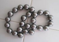"26 Silver / Chrome Colored Highly Magnetic Hematite 1"" Round Spheres, Magnets"