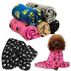 60*70CM Cozy Pet Paw Print Pet Cat Dog Fleece Soft Blanket Beds Mat Cover Newly