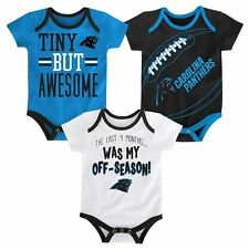 48f5e79e0 Gerber NFL Carolina Panthers Boy 3-piece Onesies Set Size 0-3m Baby ...