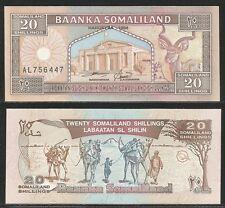 SOMALILAND - 20 Shillings 1996 UNC Pick 3b