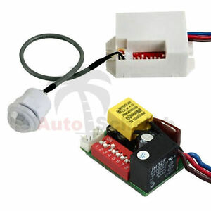 mini pir bewegungsmelder zum einbau 12v dc 100 timer relais kfz caravan alarm ebay. Black Bedroom Furniture Sets. Home Design Ideas