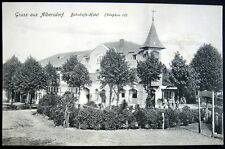 GERMANY ~ 1909 GRUSS AUS ALBERSDORF ~ BAHNHOFS HOTEL  Telephon 32