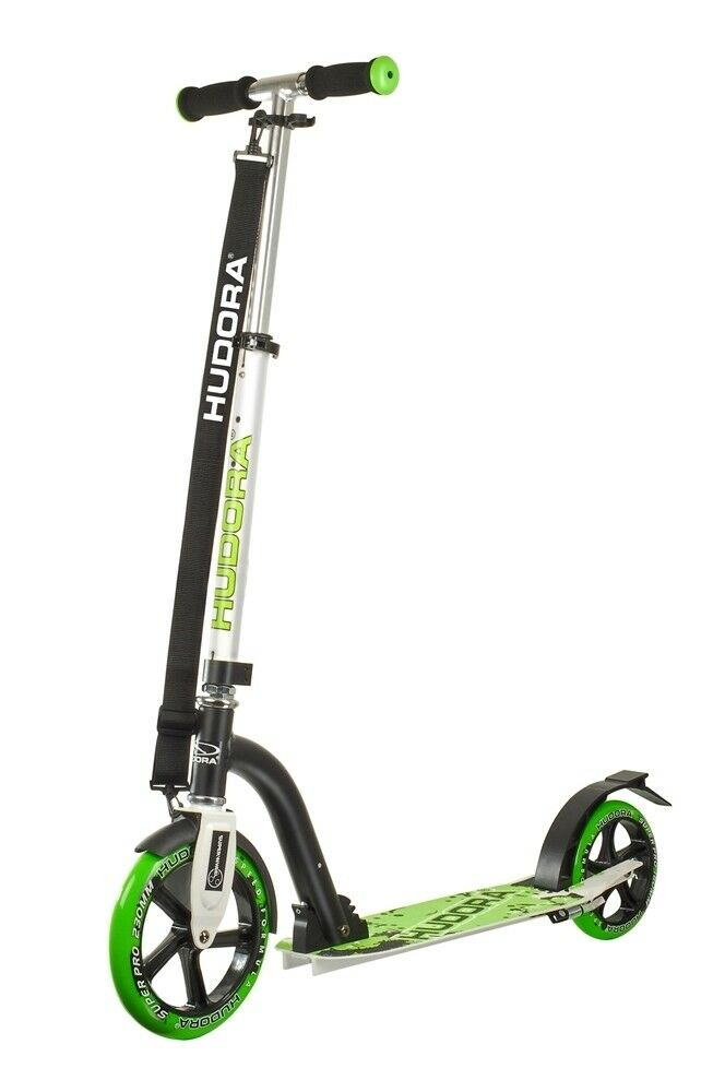 Hudora Big Wheel Bold 230 City Scooter Kinder City Roller grün schwarz 14230