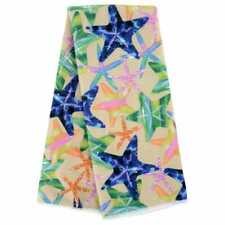w 15x25 in Set of 2 Home Collection Beach Bash Sea Life Stars Kitchen Towels