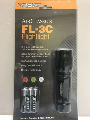 "p//n ASA-FL-3C /""FLIGHTLIGHT/"" LED PILOT FLASHLIGHT Red//Green//White  by ASA"