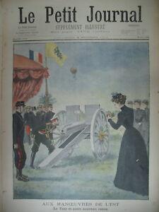 RUSSIE-TSAR-CATHEDRALE-DE-REIMS-MANOEUVRES-DE-L-039-EST-CANON-LE-PETIT-JOURNAL-1901