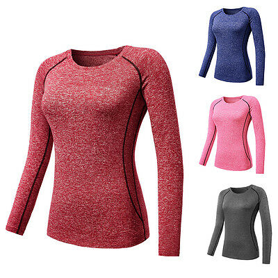 Women Sports Apparel Skin Tights Compression Base Layer Gym Yoga Shirts