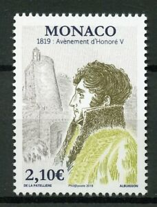 Monaco-2019-MNH-Accession-Honore-V-Bicentenary-1v-Set-Royalty-People-Stamps