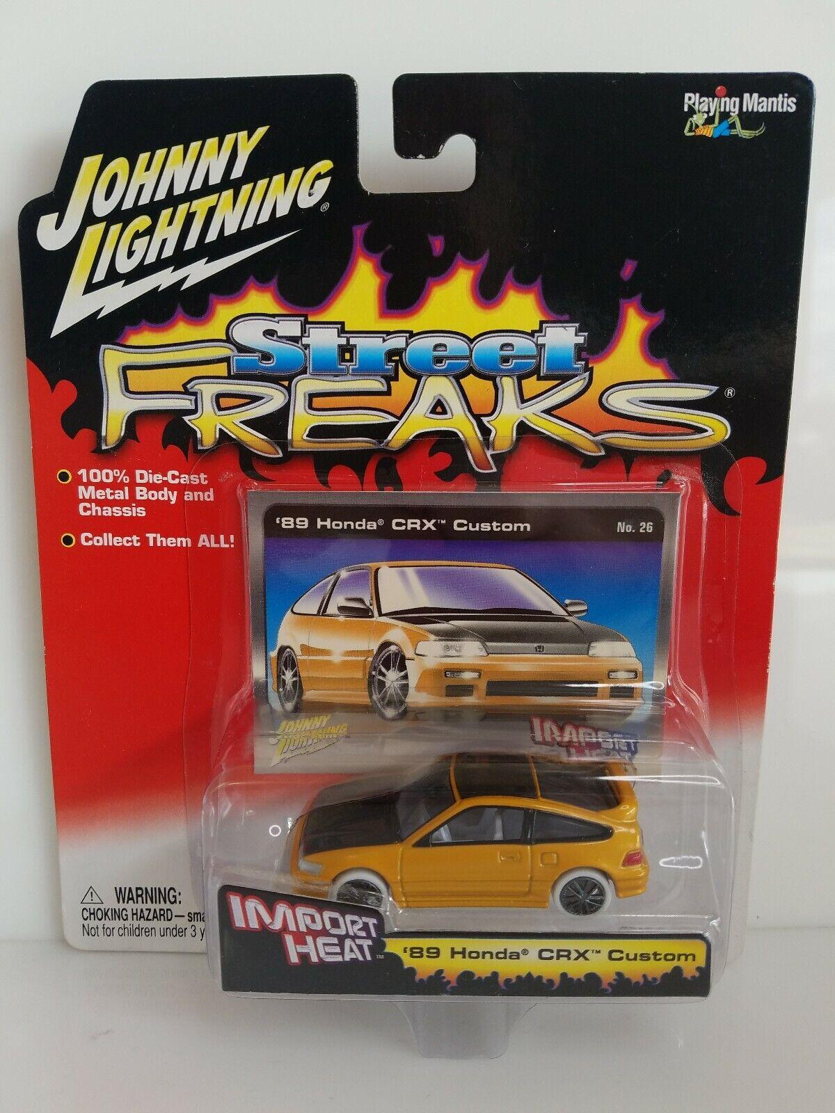 Rare Johnny Lichtning Straße Freaks 1989 Honda CRX Weiß Lichtning Chase Orange