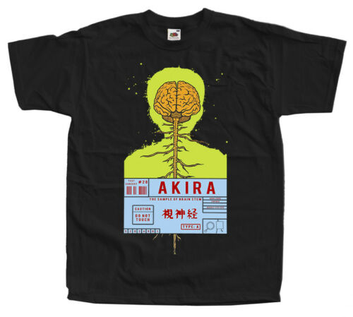AKIRA 1988 4 prints T-shirt black sizes S-5XL 100/% cotton Japanese manga K.Otomo