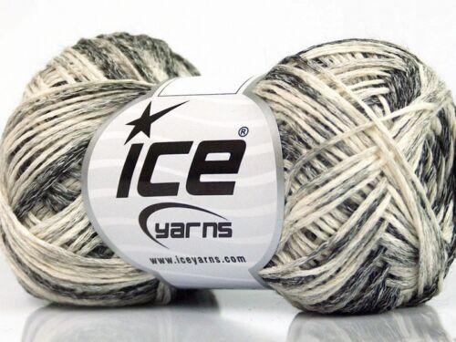200 g dégradé laine trouverez Cotton Gris Crème 60/% coton 150 m//50 g