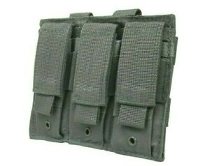 VISM-Triple-Pistol-Magazine-Pouch-MOLLE-Tactical-Duty-Gear-Hunting-GRAY