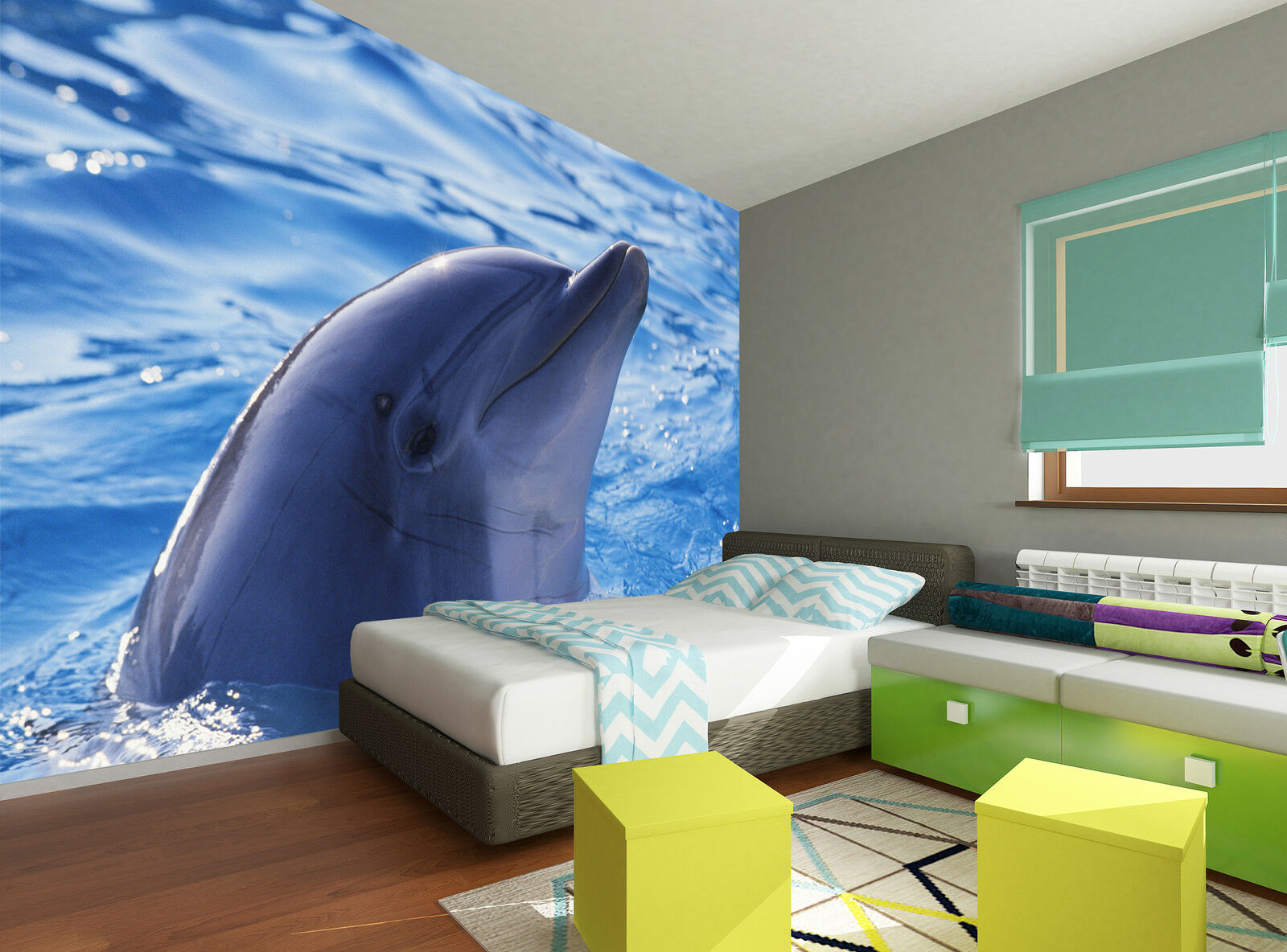 Dolphin Wall Mural Photo Wallpaper GIANT DECOR Paper Poster Free Paste